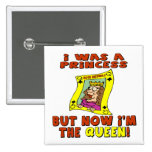Queen 50th Birthday Gifts 15 Cm Square Badge