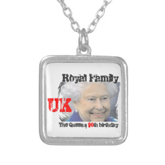Queen 90th birthday Royal Windsor Silver Plated Necklace