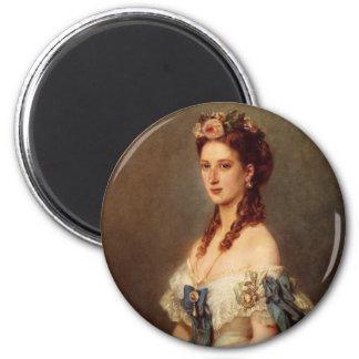 Queen Alexandra 6 Cm Round Magnet