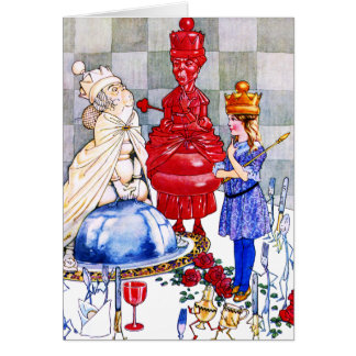 Queen Alice, the Red Queen and The White Queen Greeting Card