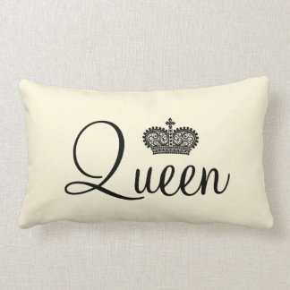 Queen and Crown Personalized text design Lumbar Cushion