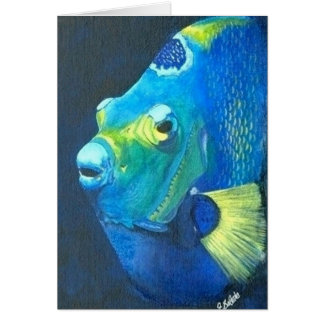 Queen Angel fish Note Card
