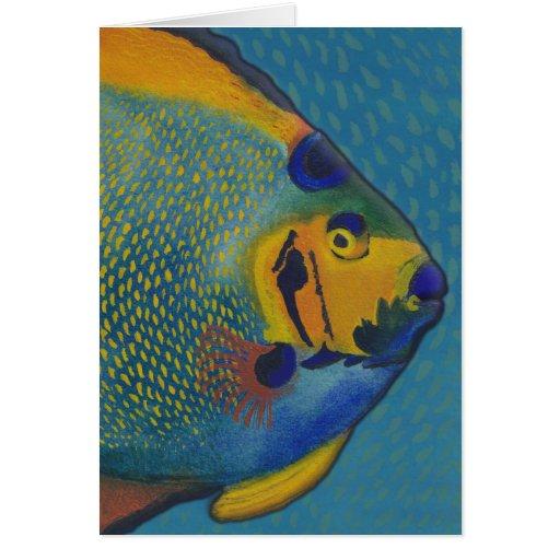 Queen Angelfish Blank Greeting Card