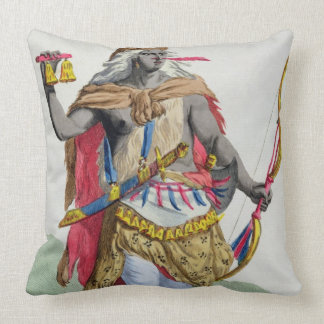 Queen Anna Nzinga (1583-1663), from 'Receuil des E Throw Pillow