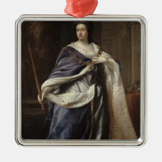 Queen Anne, 1703 Silver-Colored Square Decoration