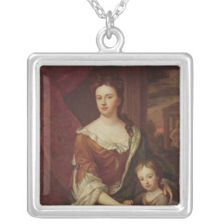 Queen Anne and William, Duke of Gloucester Silver Plated Necklace
