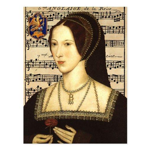 Queen Anne Boleyn - Portrait Postcard