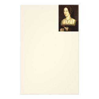 Queen Anne Boleyn Stationary Stationery Paper