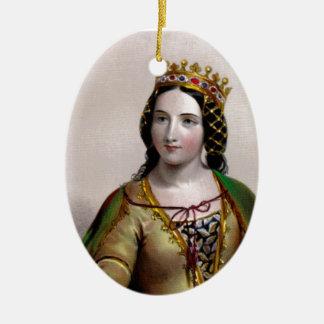 Queen Anne Neville Ceramic Oval Decoration