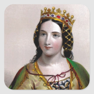 Queen Anne Neville Square Sticker