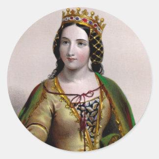 Queen Anne Neville Round Stickers