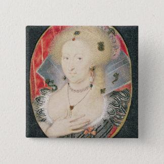 Queen Anne of Denmark, miniature 15 Cm Square Badge