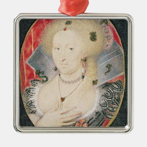 Queen Anne of Denmark, miniature Ornament