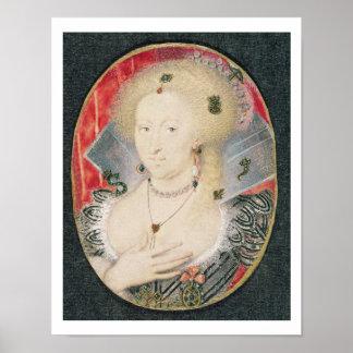 Queen Anne of Denmark, miniature Poster