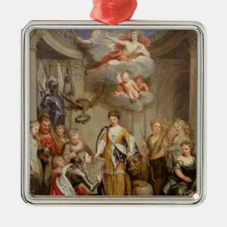 Queen Anne presenting plans of Blenheim military Christmas Ornament