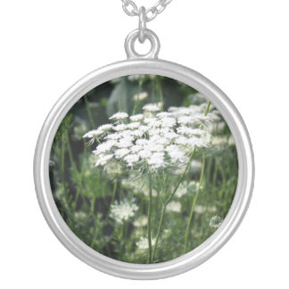 Queen Anne s Lace in a Field Personalized Necklace