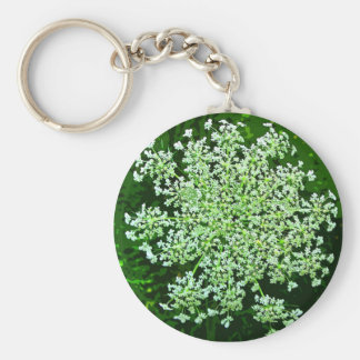 Queen Anne's Lace Basic Round Button Key Ring