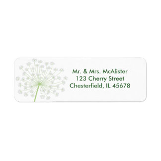Queen Anne's Lace Flower Address label