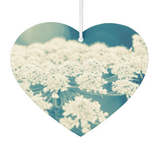 Queen Anne's Lace Flowers Heart Air Freshener