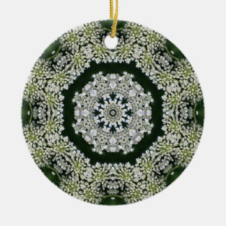 Queen Anne's Lace Kaleidoscope ornament