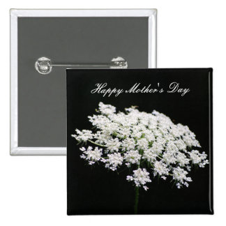 Queen Anne's Lace Mother's Day 15 Cm Square Badge