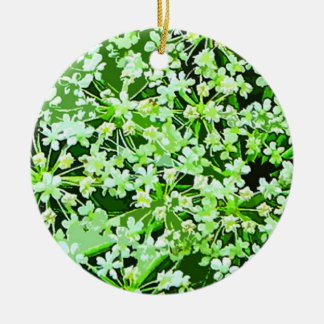 Queen Annes Lace Round Ceramic Decoration