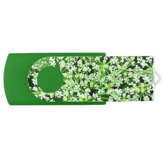 Queen Annes Lace Swivel USB 2.0 Flash Drive