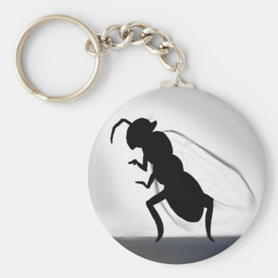 Queen Ant Basic Round Button Key Ring