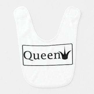 Queen baby bib