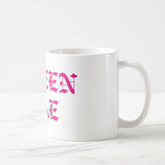 QUEEN BAE COFFEE MUG- ROYALTY (Pink Font) Coffee Mug
