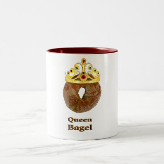 Queen Bagel Two-Tone Coffee Mug