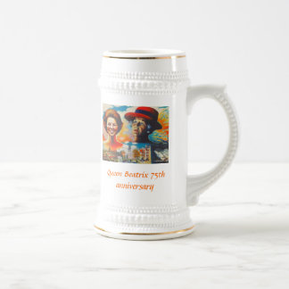 Queen Beatrix 75th anniversary Beer Steins
