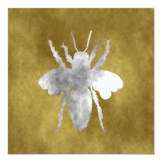 queen bee 13 cm x 13 cm square invitation card