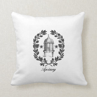 Queen Bee & Apiary Decorative Throw Pillow Cushion