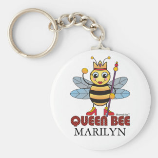 Queen Bee Basic Round Button Key Ring