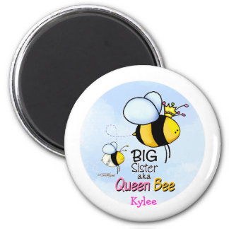 Queen Bee - Big Sister 6 Cm Round Magnet