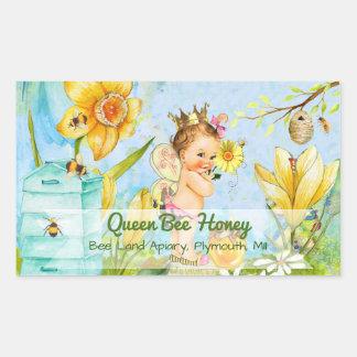 Queen Bee Canning Labe Rectangular Sticker