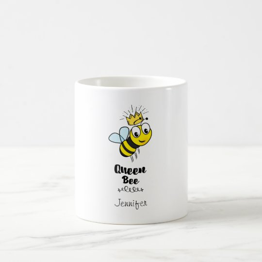 Queen Bee Cute Bumble Bee with Crown Personalised