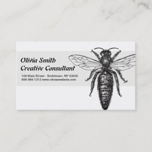 The boss lady business cards business card printing zazzle uk queen bee drawing vintage black business card reheart Images