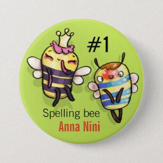 Queen Bee & Honey Diddy 7.5 Cm Round Badge