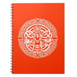 Queen Bee in Snow Spiral Notebook