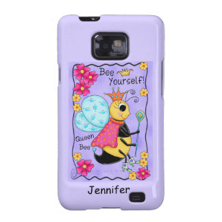 Queen Bee Lavender Honey Bee Art Personalized Galaxy SII Covers