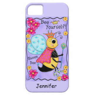Queen Bee Lavender Honey Bee Art Personalized iPhone 5 Covers