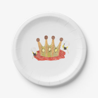 Queen Bee Paper Plate