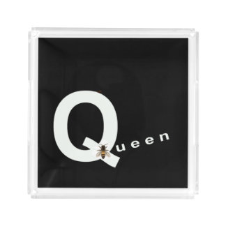 QUEEN BEE Perfume Tray for Women-White/Black