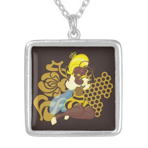 Queen Bee Pin Up Pendant
