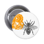 Queen Bee Pinback Button
