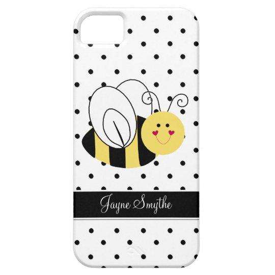 Queen Bee Polka Dot Personalised Case