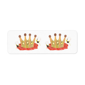 Queen Bee Return Address Label