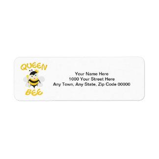 Queen Bee Return Address Label
